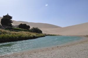 Mondsichelsee Wüste Gobi